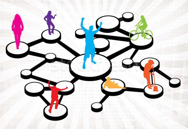 Social Media Connections Diagram Stock photo © ArenaCreative
