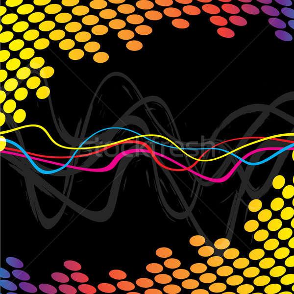 Cool аудио волны волнистый линия частота Сток-фото © ArenaCreative