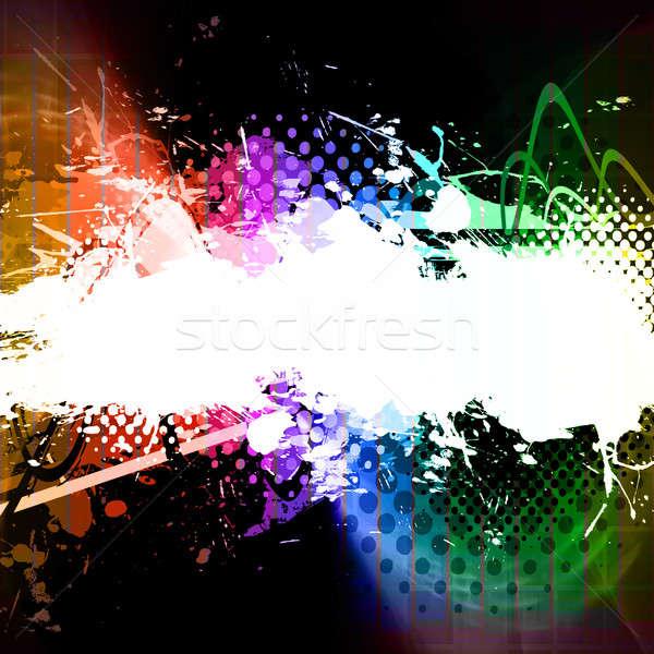 Arco-íris agitar-se traçado funk cópia espaço Foto stock © ArenaCreative