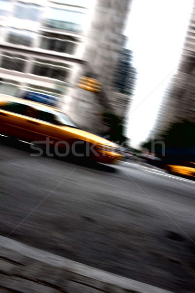 Speeding Yellow Taxi Cab Motion Blur Stock photo © ArenaCreative