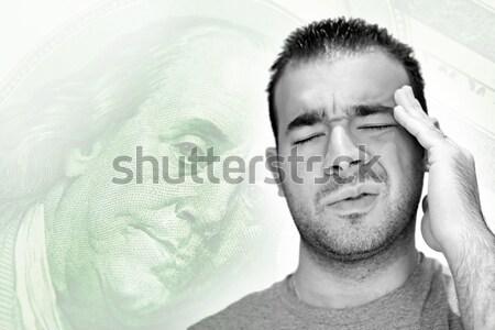 человека более молодым человеком голову тоска подчеркнуть Сток-фото © ArenaCreative