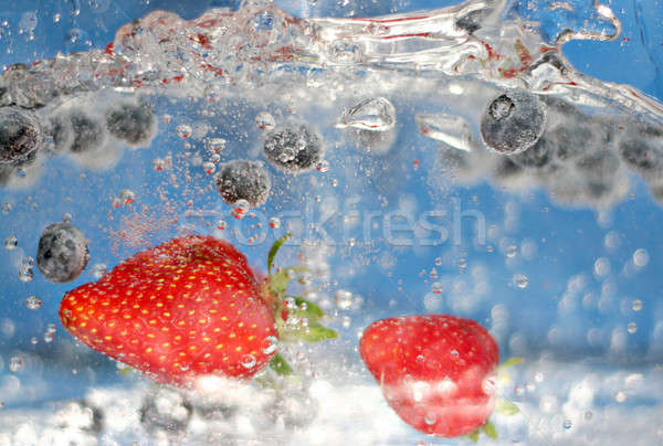 Summer Berries Plunging Stock photo © ArenaCreative