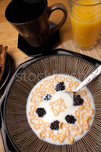 Tax Day Cereal Reminder Stock photo © ArenaCreative
