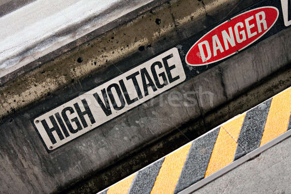 High Voltage Danger Sign Stock photo © ArenaCreative