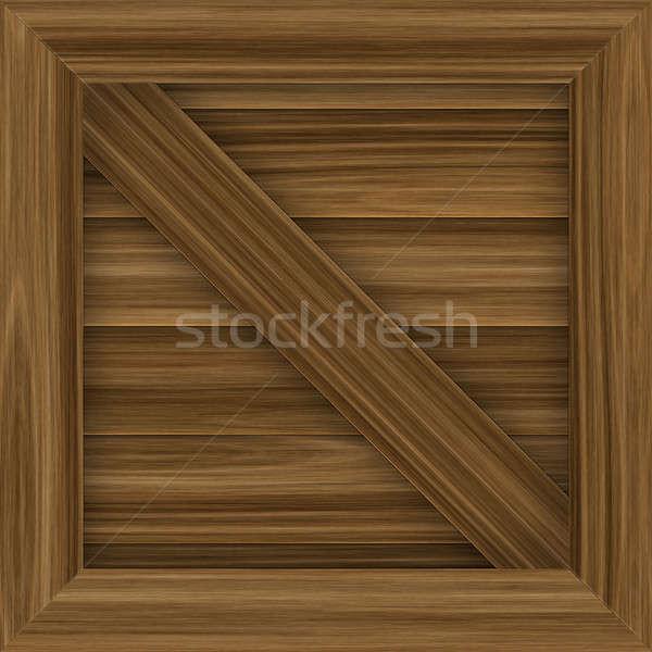 Drewna ładunku skrzynia ilustracja płytek Zdjęcia stock © ArenaCreative