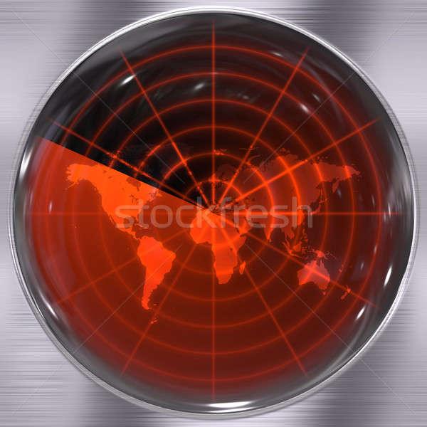 Mondo radar schermo può mappa sfondo Foto d'archivio © ArenaCreative