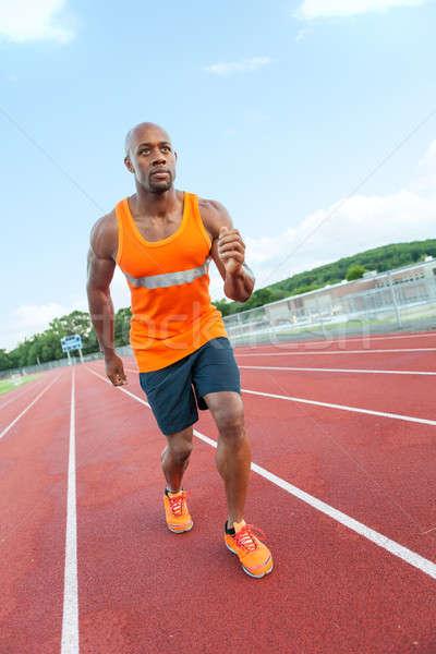 Runner At the Track Stock photo © arenacreative