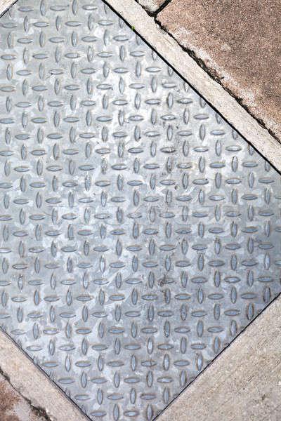 Sidewalk Metal Diamond Plate Stock photo © ArenaCreative