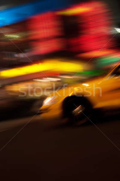 Abstract Yellow Taxi Cab Stock photo © ArenaCreative