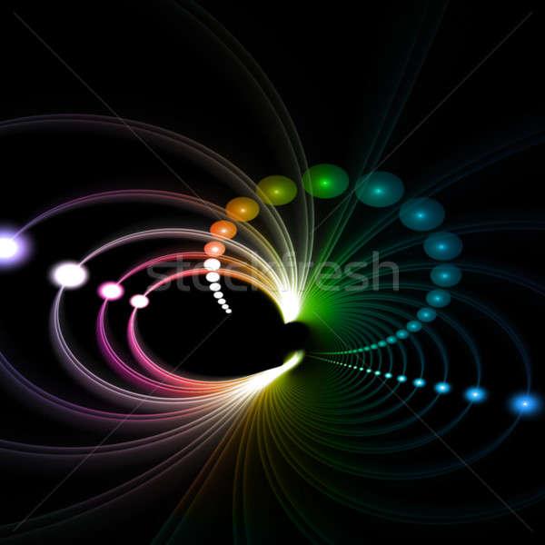 Funky Rainbow Fractal Stock photo © ArenaCreative