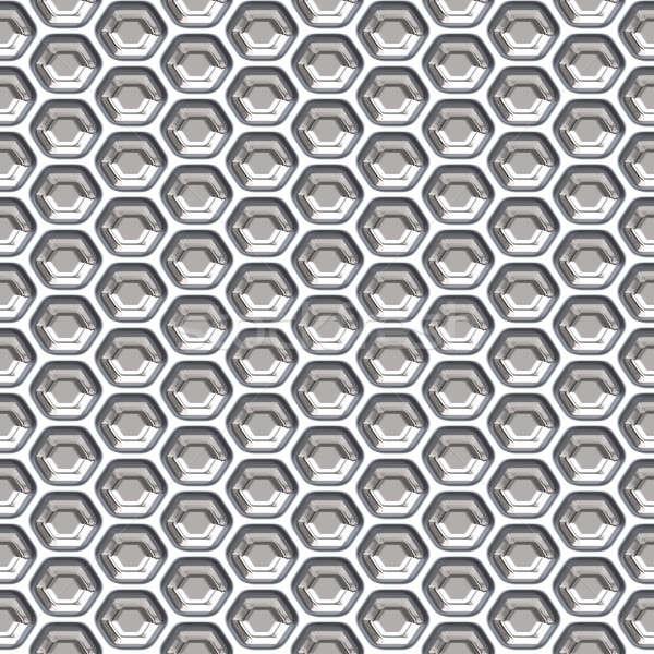 Méhsejt grill alakú fém csempék textúra Stock fotó © ArenaCreative