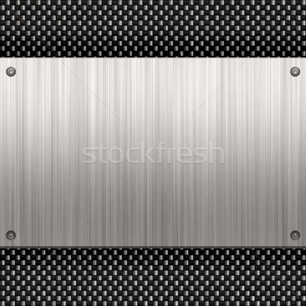 Brushed Aluminum Carbon Fiber Stock photo © ArenaCreative