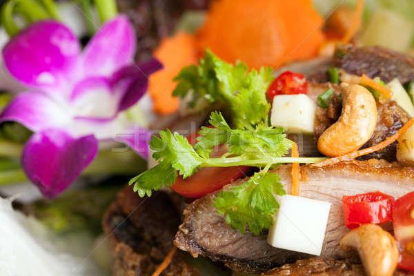 Thai salade croustillant canard fraîches vert Photo stock © arenacreative
