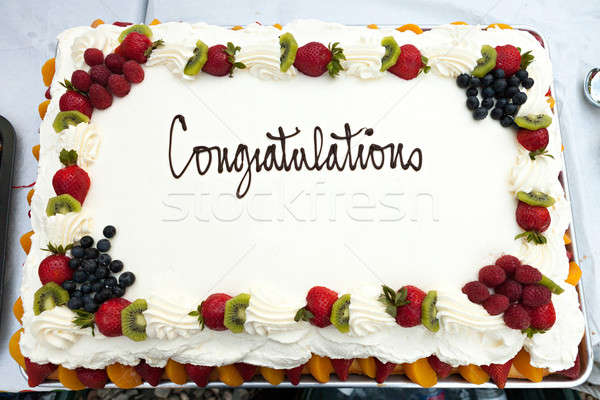 Congratulations Cake with Fruit Stock photo © arenacreative