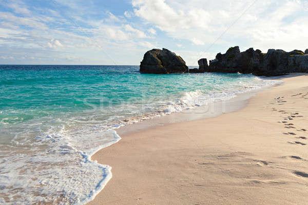 Lang strand rock eiland natuur zomer Stockfoto © arenacreative