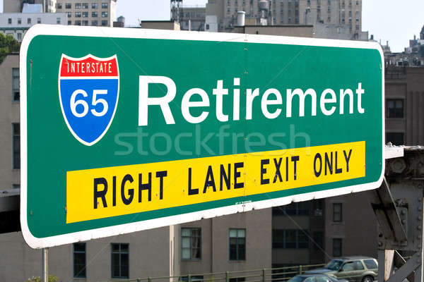 Retirement Highway Sign Stock photo © ArenaCreative