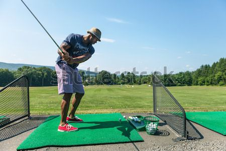 Driving Range Golf Swing Stock photo © arenacreative
