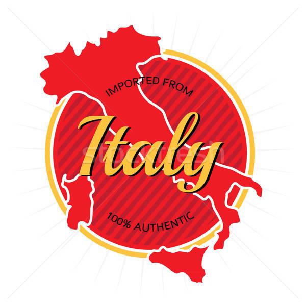 İtalya etiket dizayn beyaz imzalamak damga Stok fotoğraf © arenacreative
