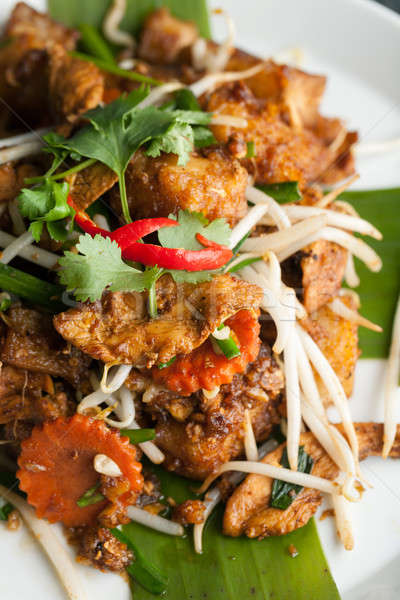 Radish Cake Thai Food Dish Stock photo © arenacreative