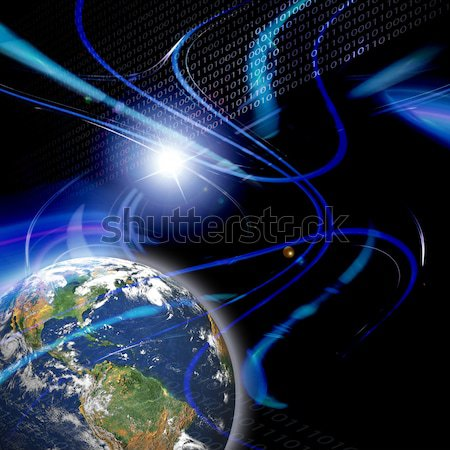Comunicazione globale montage digitale età vivere terra Foto d'archivio © ArenaCreative