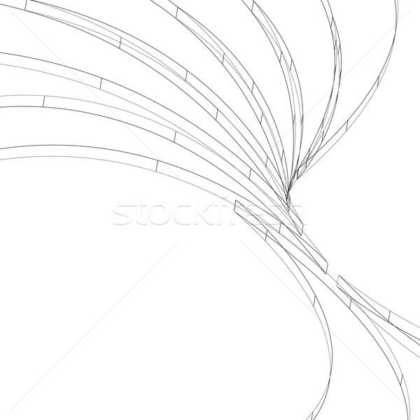 3D Wireframe Layout Stock photo © ArenaCreative