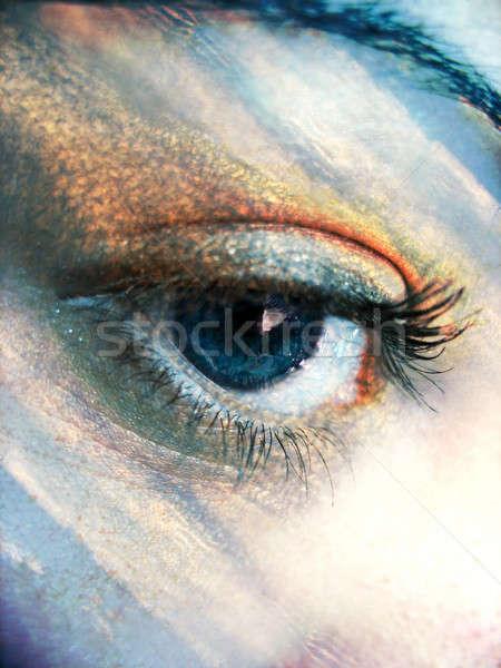 Göz atmosfer güzel mavi renkler gökyüzü Stok fotoğraf © ArenaCreative