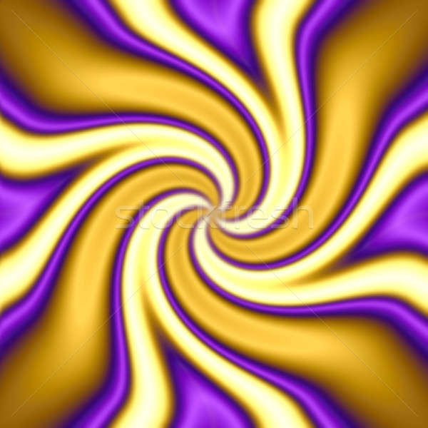 A gold and purple spiral vortex twirl abstract. Stock photo © ArenaCreative