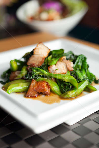 Tailandés estilo crujiente cerdo plato chino Foto stock © arenacreative