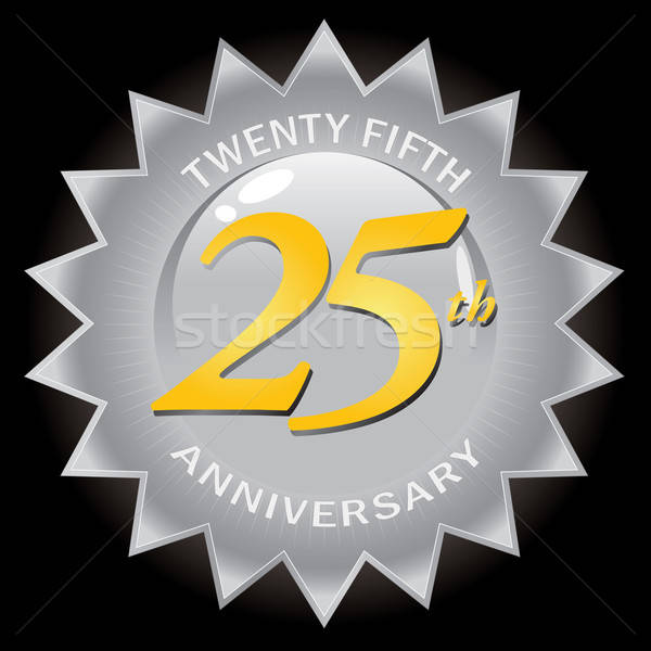 Silver 25th Anniversary Seal Badge Stock photo © ArenaCreative