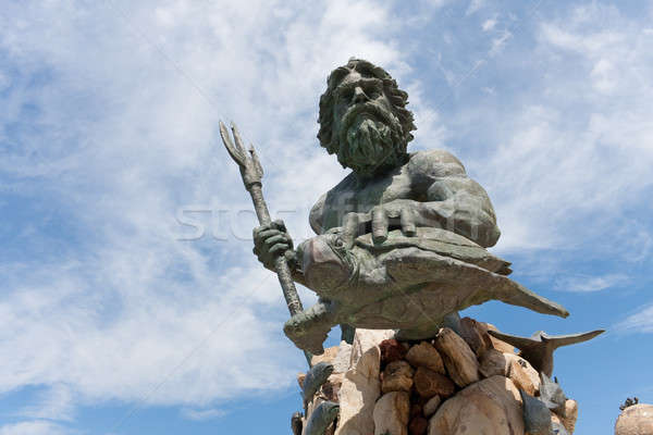 King Neptune Virginia Beach Statue Stock photo © ArenaCreative