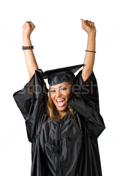 Happy Graduate Cheering Stock photo © ArenaCreative