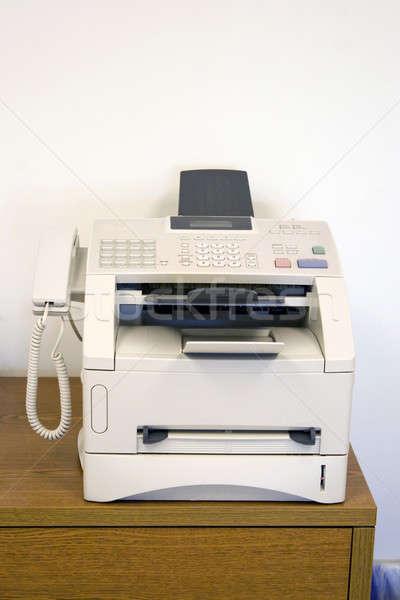 Télécopieur séance table bureau outil affaires Photo stock © ArenaCreative