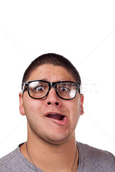 Man Wearing Nerd Glasses Stock photo © ArenaCreative