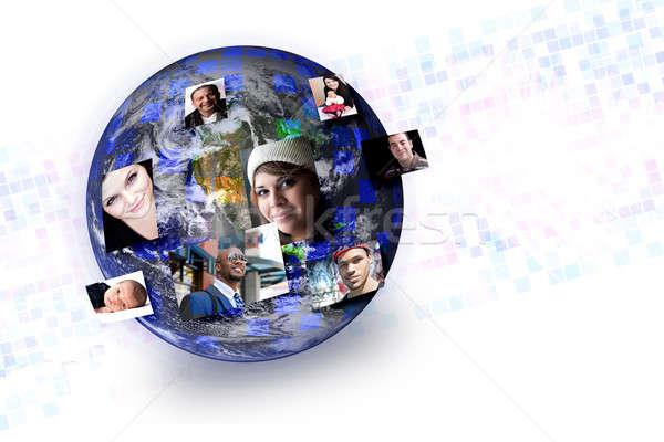Persone globale networking mondo Foto d'archivio © ArenaCreative