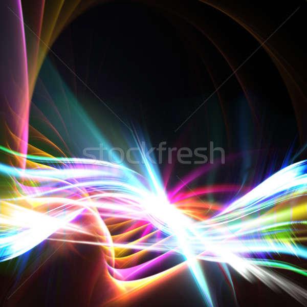 Rainbow Swoosh Layout Stock photo © ArenaCreative