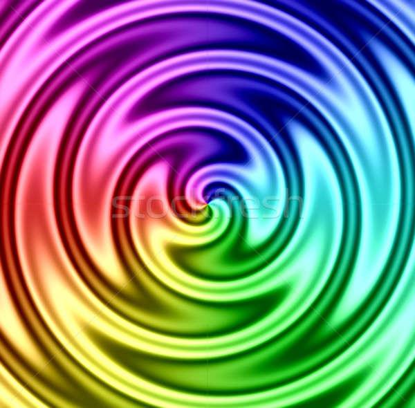 Rainbow Liquid Twirl Stock photo © ArenaCreative