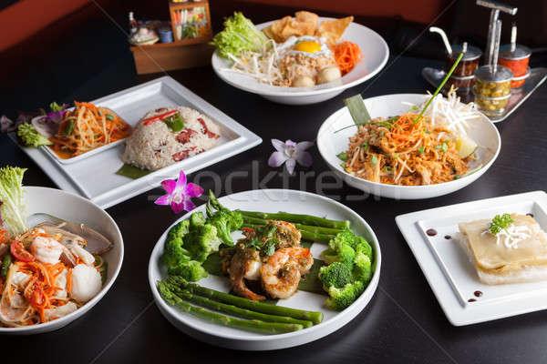 タイ料理 料理 エビ シーフード 皿 ストックフォト © arenacreative