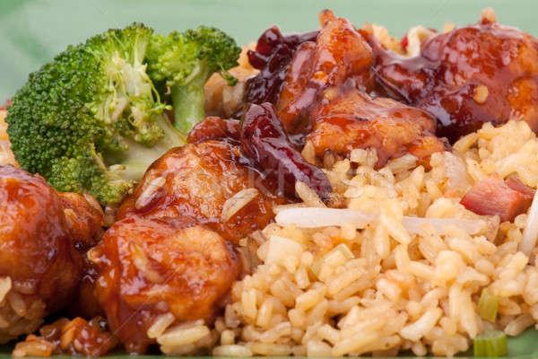 Generale pollo macro dettaglio broccoli Foto d'archivio © ArenaCreative