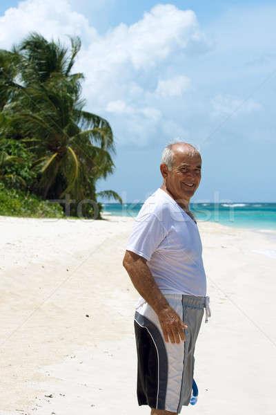 Hiszpańskie starszy człowiek senior stałego Zdjęcia stock © ArenaCreative