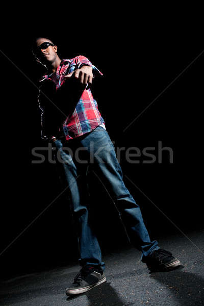 Stock photo: Cool Guy Pointing