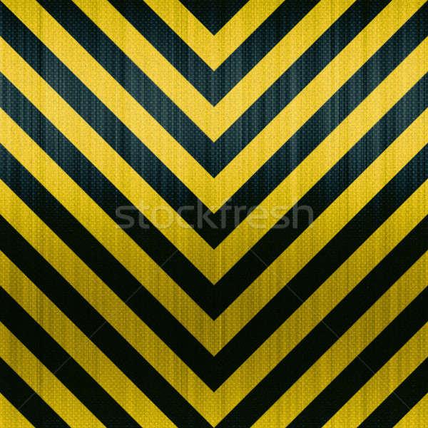 Carbon Fiber Hazard Stripes Stock photo © ArenaCreative