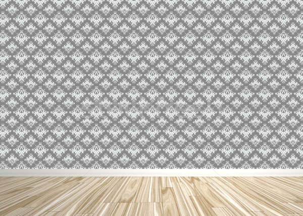 Damask Wallpapered Room Interior Stock photo © ArenaCreative