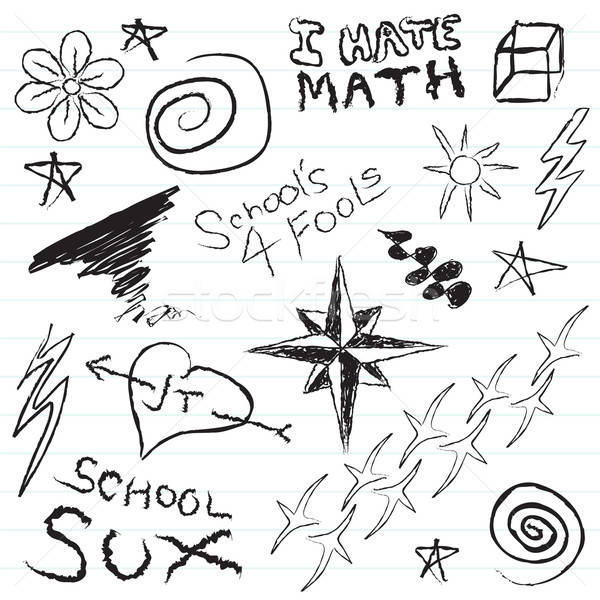 School Notebook Doodles Stock photo © ArenaCreative