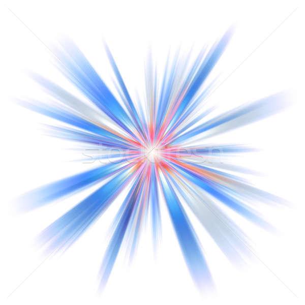Abstrakten Burst Illustration farbenreich groß Sonne Stock foto © ArenaCreative