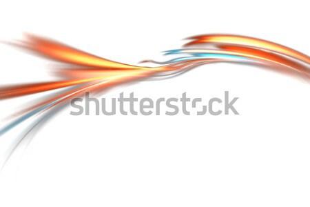 Stock fotó: Folyik · tüzes · fraktál · elrendezés · izzó · terv