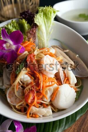тайский морепродуктов Салат традиционный блюдо Сток-фото © arenacreative