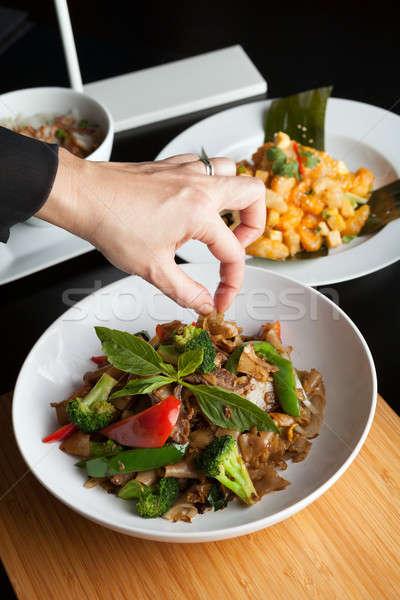 食品 スタイリスト 皿 甘い バジル ガーニッシュ ストックフォト © ArenaCreative