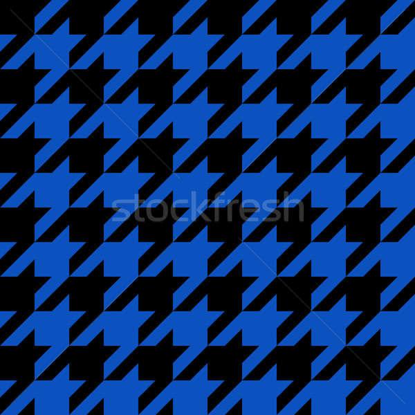 Blue Houndstooth Pattern Stock photo © ArenaCreative