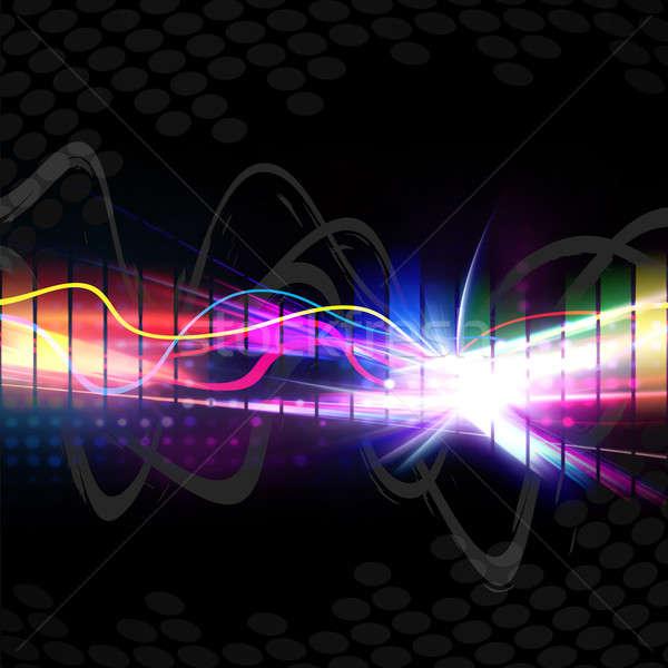 Stock fotó: Szivárvány · musical · hullám · űrlap · színes · grafikus
