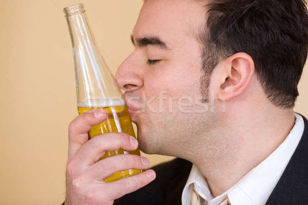 Stock fotó: Szeretet · sör · fiatalember · iszik · üzlet · munka